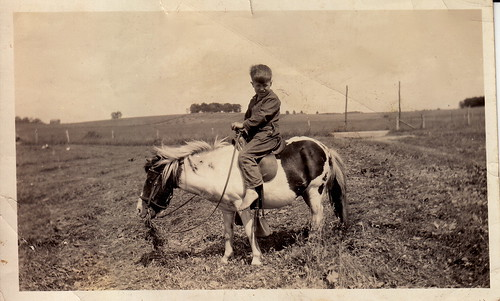 My grandpa, on a pony