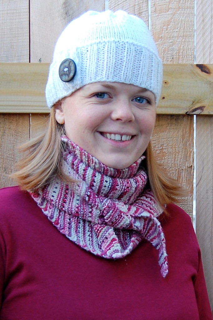 96568985ece ELB + Button Tab Hat (ashpags) Tags  pink red white hat scarf knitting