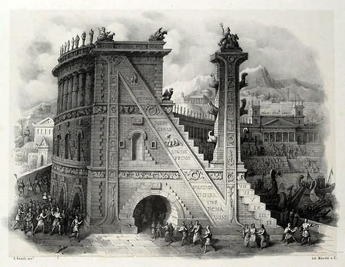 013-Letra N-Alfabeto pittorico- Antonio Basoli 1839-© Accademia di Belle Arti di Bologna