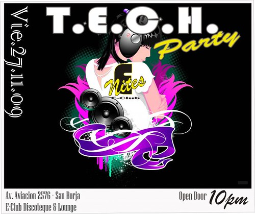 T.E.C.H. Party - E-nites Discoteque