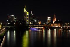 frankfurt (itsch005) Tags: bridge skyline night dark lights nightlights nacht frankfurt brcke dunkel