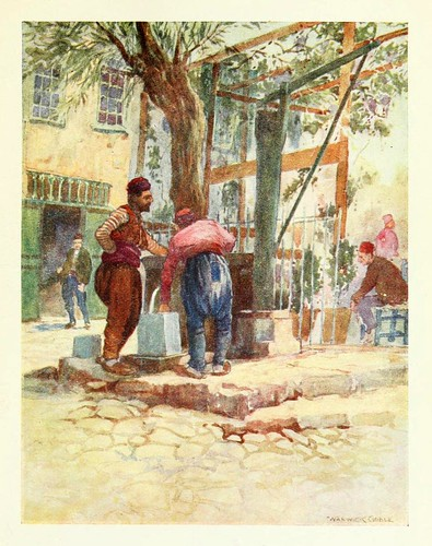 016-Así se hace en Estambul- Constantinople painted by Warwick Goble (1906)