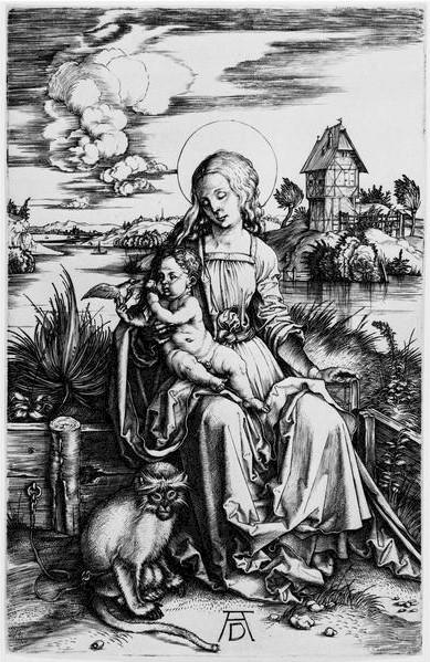Albrecht Dürer, Virgin and Child with a monkey