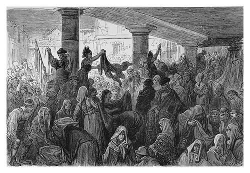 002-Antiguo mercado de ropa en Burgos--Spain (1881)- Doré Gustave