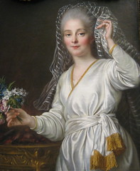 Portrait of a Young Woman as a Vestal Virgin (rosewithoutathorn84) Tags: nyc newyorkcity portrait sculpture woman white ny newyork art history century painting french veil roman robe religion goddess young 18th virgin hubert classical ritual francois met vestal rococo neoclassical 1700s metropolitanmuseumofart pagan vesta drouais