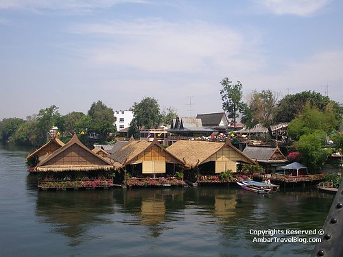 Floating Homes On River Kwai