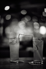 .lovers and other strangerS (27147) Tags: ice water glass table restaurant lemon kiss tea bokeh straw lemonade zen meal shushi lunce 27147