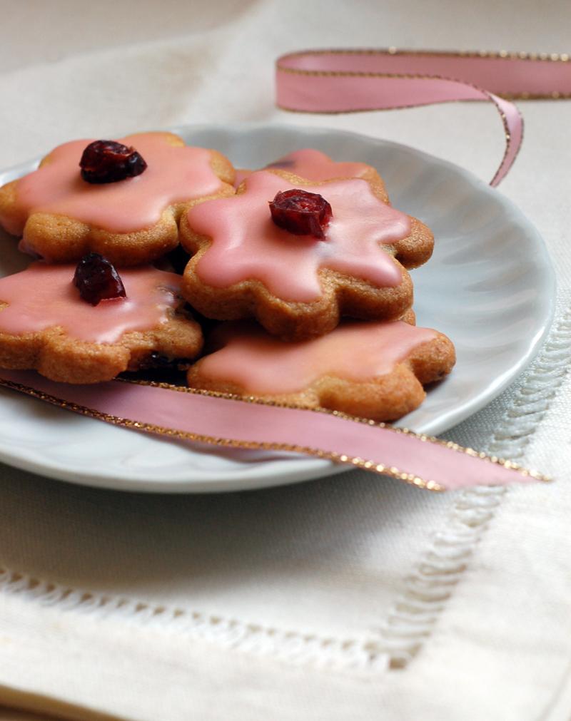 Pink Christmas Cookies