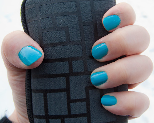 Orly Blue Collar Nailart