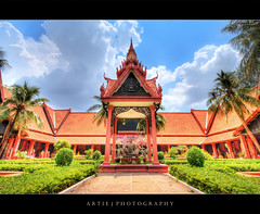 National Museum of Cambodia, Phnom Penh :: HDR (:: Artie | Photography ::) Tags: building heritage classic museum architecture photoshop garden rebel shrine cambodia khmer cs2 buddha tripod sigma wideangle structure symmetry historical symmetrical phnompenh 1020mm archaeological hdr 1920 artie 3xp sigmalens photomatix tonemapping tonemap xti 400d nationalmuseumofcambodia