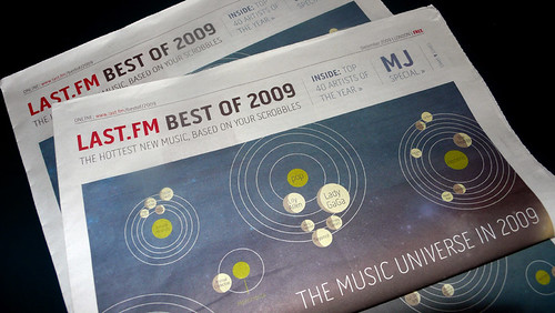 Last.fm best of 2009 newspaper
