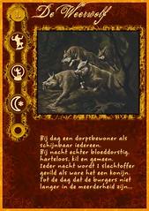"""""""De Weerwolf"""" rolkaart uit mijn zelfgemaakte Weerwolven mega-set"""