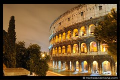 Colosseo Plumbeo (Michele Cannone) Tags: rome roma rain night badge pioggia colisseum sincity colosseo nikonflickrawardgold pinnaclephotography