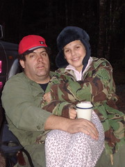 Me and Miss Whaleoil by the campfire