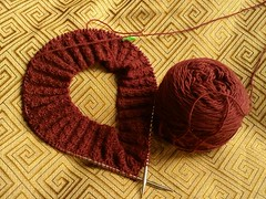 First handknit of 2010 - Wicked