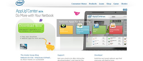 Intel AppUp Center Beta Released at CES 2010