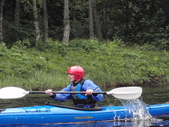 kayak touring along the loch and down he river to the sea