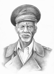Sometimes, I Draw (GraceAdams) Tags: old portrait man hat pencil soldier sketch drawing ethiopia ericlafforgue