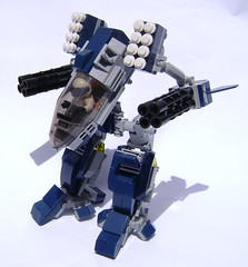 Every battlemachine should have a glass cockpit (DARKspawn) Tags: light robot lego space mecha bot mech darkblue classicspace