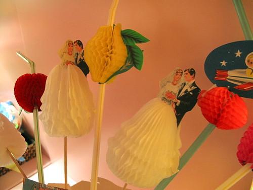 bride and groom straws