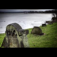 AS:BP (widdowquinn) Tags: green church grave graveyard grass stone river skull scotland fife bridget forth gravestone marker churchyard hdr kirk riverforth dalgetybay kirkyard stbridget photomatix pseudohdr stbridgetskirk forthestuary therelationshipbetweenlandandsea
