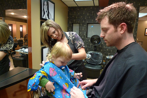 Jack's first haircut