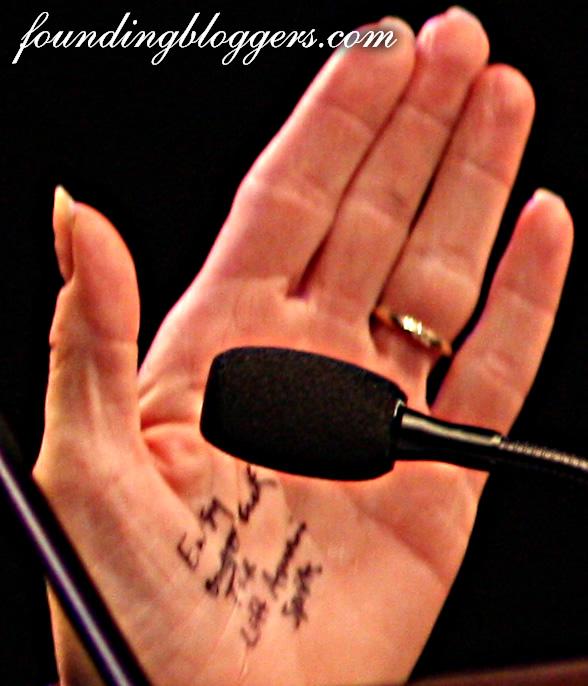 sarah hand closeup