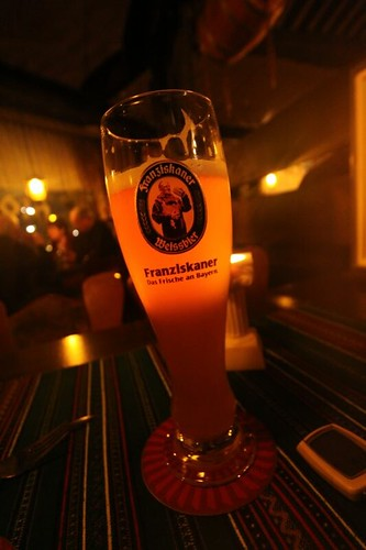 Ahh, Franziskaner, the good white beer.