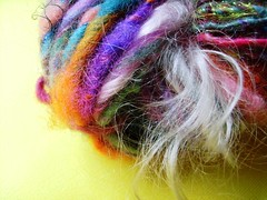 beloved (8) (rosie.ok) Tags: wool rainbow knitting colorful soft handmade crochet fluffy craft yarn spinning fiber artisan woollen handspun fibre spun
