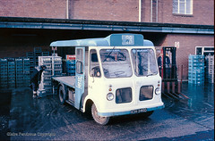 Memories of Midland Road Dairy, Walsall (Lady Wulfrun) Tags: blue milk coop dairy 1986 empties crates walsall forklift milkman cooperative milkfloat milkbottles cws midlandroad milkfloats 13thdecember1986 kdh246d