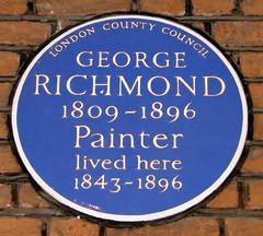 Photo of George Richmond blue plaque