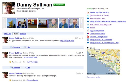 Google Profile, Now With Added Buzz