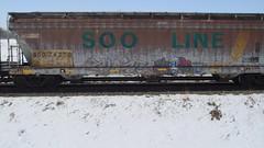 Cloze & Shore (Fr8 Fiend) Tags: train graffiti graf graff ra hopper freight noa ue tfd kdf hfx flv ugn upsk