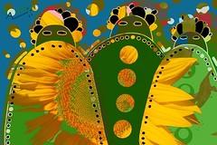 Warriors (alain vaissiere) Tags: color art photoshop design photo mixed drawing creative dessin moderne graff toulouse alain couleur charme artiste contemporain vaissiere graffiphoto wwwalainvaissierecom