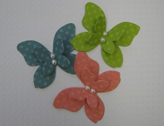 Spring Butterflies (JustScrappinHappy) Tags: blue green coral butterfly scrapbooking paper fun cards spring december handmade buttons crafts tag magic pearls gifts card gift embellishment surprise button bling embellishments bulk birthdayfun etsyshop shessocrafty craftaday arainbowofcolor allthingsfun gittag