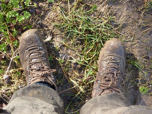 Exceptionally muddy boots