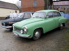WARTBURG 1000 (xavnco2) Tags: auto old france green classic cars car vintage voiture historic oldtimer common classiccars verte picardie tatra epoca wartburg vecchia somme classica vecchie storiche gavap montignysurlhallue dgommage