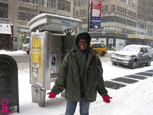 Clara in the snow