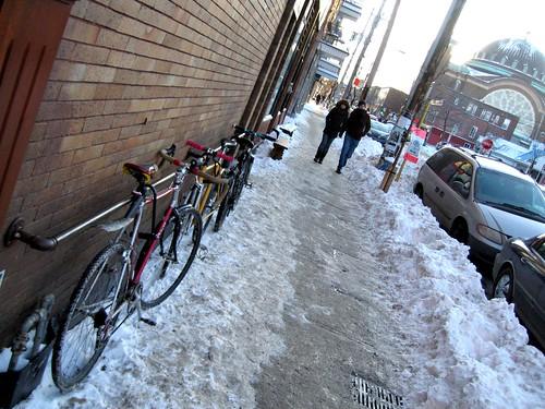 Les supports à vélo sur la rue St-Viateur