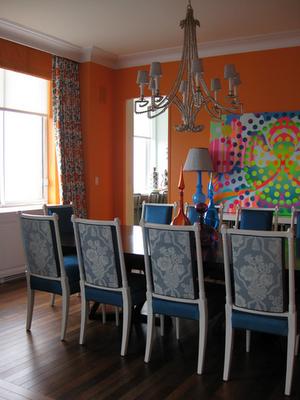Drake Design Dining Room orange