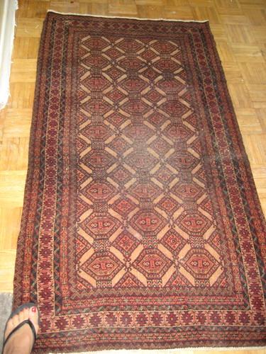 antique area Persian rug
