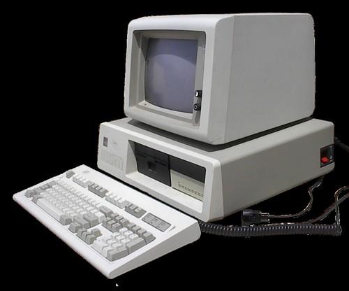 A vintage IBM PC