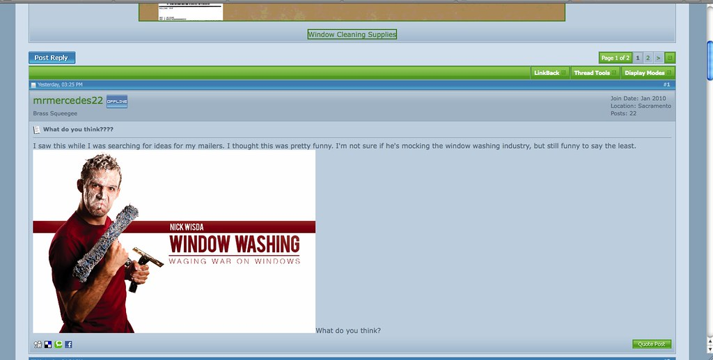 Window Washing Forum