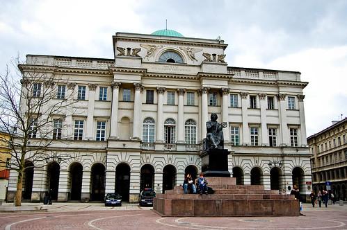 Польская Академия Наук + памятник Николаю Копернику