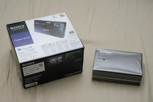 DSC-TX7 內盒跟原廠皮套
