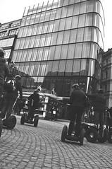 Lazy tourists. (Thomas sen) Tags: light red people bw white black cars water night stairs river airplane nikon shoes day prague bokeh praha praga ambulance norwegian starbucks skate skateboard contrasts brigde d90