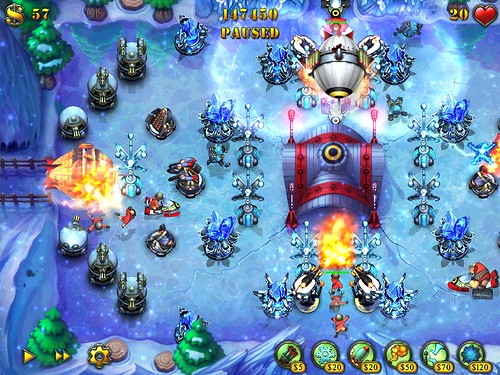 Screenshot Fieldrunners Frostbite iPad