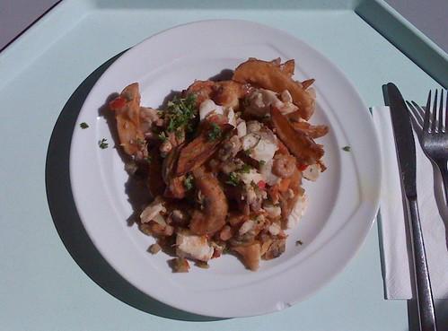 Kartoffel-Gemüsepfanne mit Fisch & Meeresfrüchten