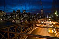 Manhattan sky line (_Franck Michel_) Tags: new york city bridge urban night long exposure pont nuit ville urbain