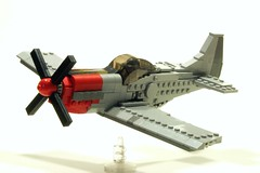 P-51 (psiaki) Tags: airplane lego wwii north american mustang p51 moc